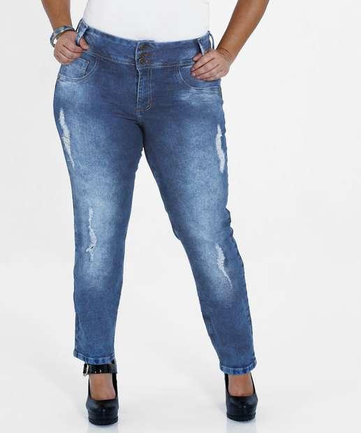 Image_Calça Feminina Jeans Destroyed Plus Size Marisa