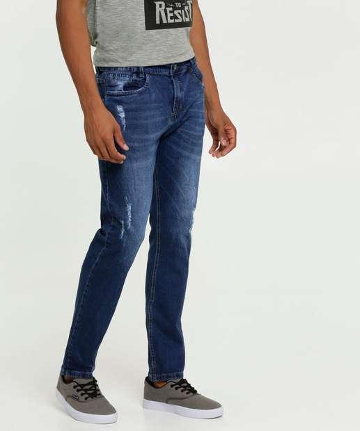 Image_Calça Masculina Jeans Skinny Puídos