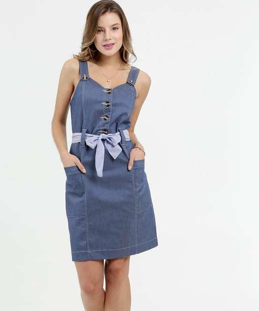 Image_Vestido Feminino Jeans Alças Finas Gups
