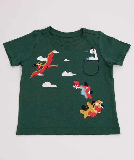 Image_Camiseta Infantil Estampa Dinossauro Manga Curta MR