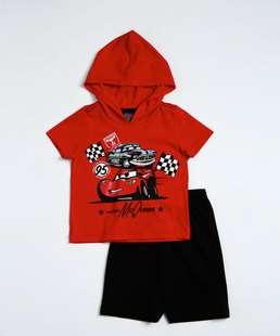 Conjunto Infantil Capuz Carros McQueen Disney