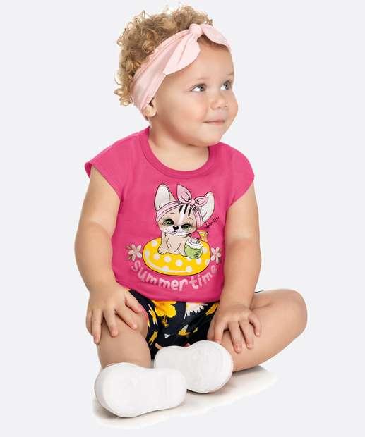 Image_Conjunto Infantil Bebê Manga Curta Estampada Tam 0 a 10 Meses
