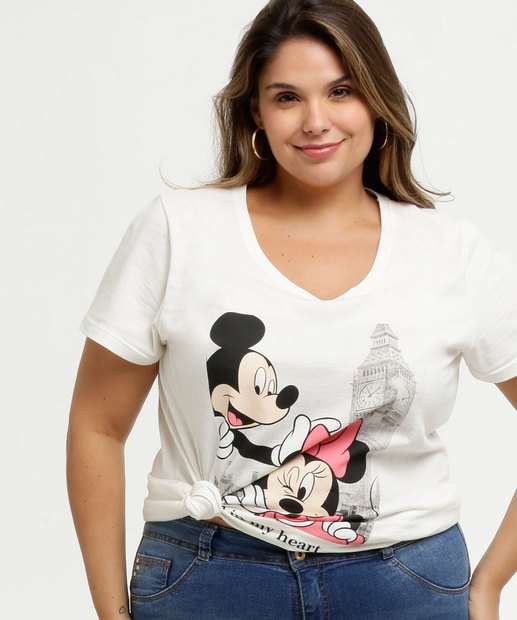 Image_Blusa Feminina Estampa Mickey e Minnie Plus Size Disney