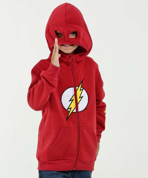 d6084f6a0c9f7 Casaco Infantil Moletom Estampa Flash Warner Bros