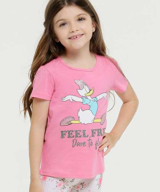 Image_Blusa Infantil Manga Curta Margarida Disney Tam 4 a 10
