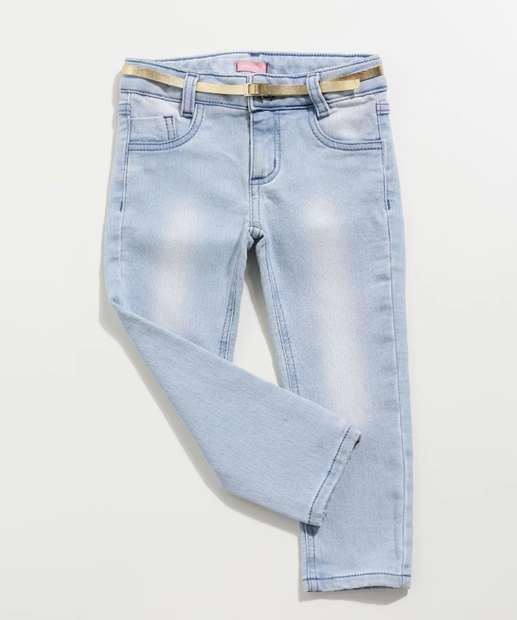 Image_Calça Infantil Jeans Cinto Marisa