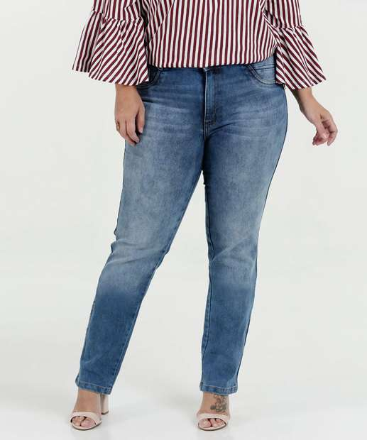 Image_ Calça Feminina Jeans Skinny Cintura Média Plus Size Biotipo