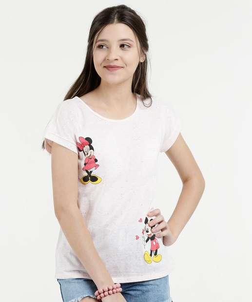 Image_Blusa Juvenil Botonê Estampa Mickey Minnie Disney
