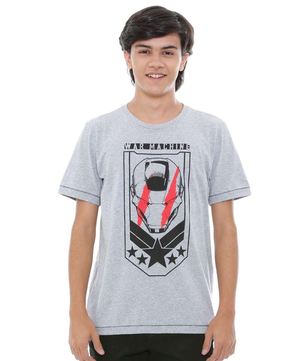 Camiseta juvenil manga curta Homem de Ferro Marvel