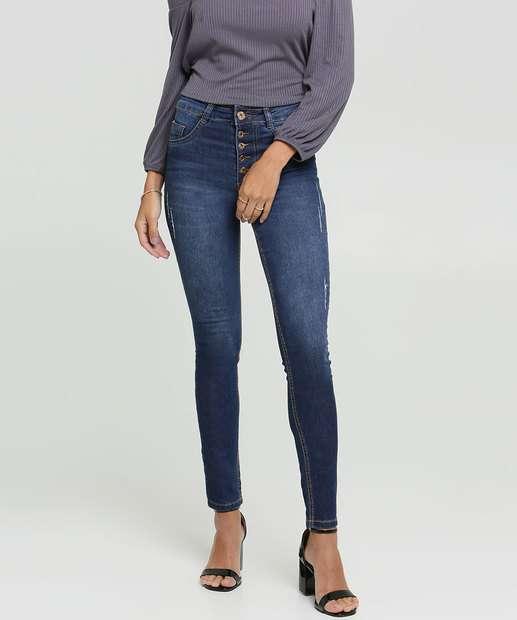 Image_Calça Jeans Puídos Skinny Feminina Botões Biotipo