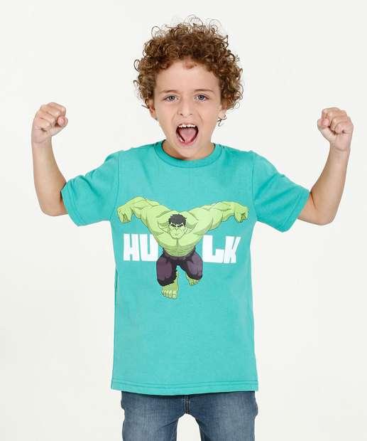 Image_Camiseta Juvenil Estampa Hulk Manga Curta Marvel