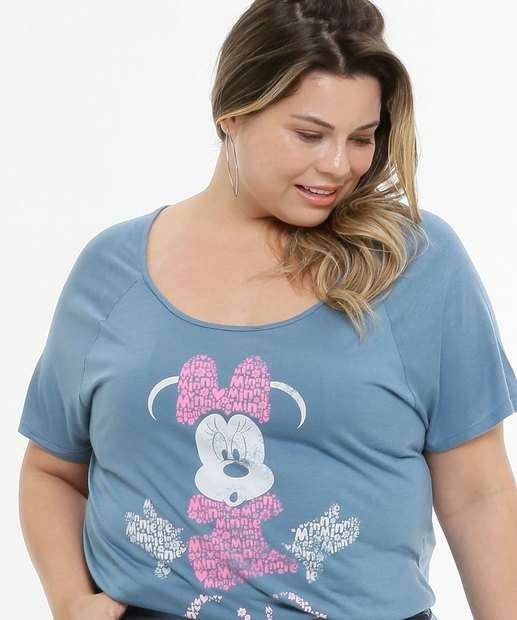 Image_Blusa Plus Size Feminina Manga Curta Estampa Minnie Disney