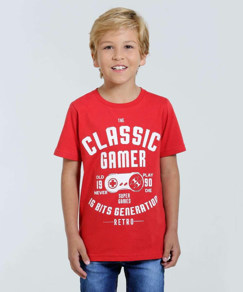 Camiseta Infantil Manga Curta Marisa