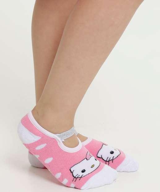 Image_Meia Infantil Antiderrapante Estampa Hello Kitty Sanrio