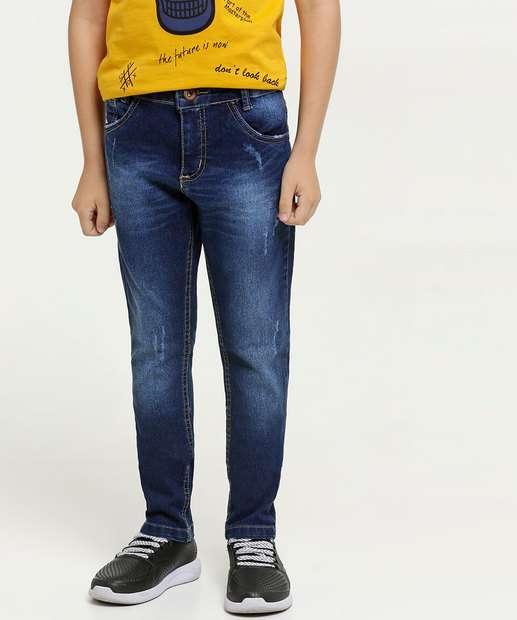 Image_Calça Infantil Jeans Puídos