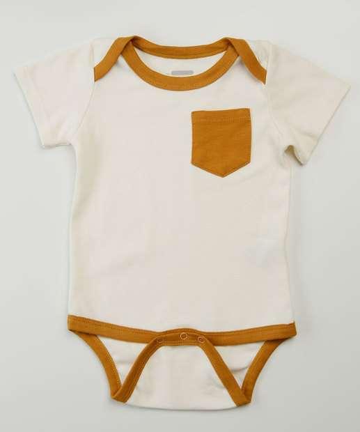 Image_Body Infantil Bebê Bolso Manga Curta Tam 9 a 24 Meses