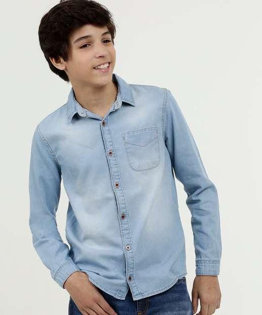 Image_Camisa Juvenil Jeans Manga Longa Mr