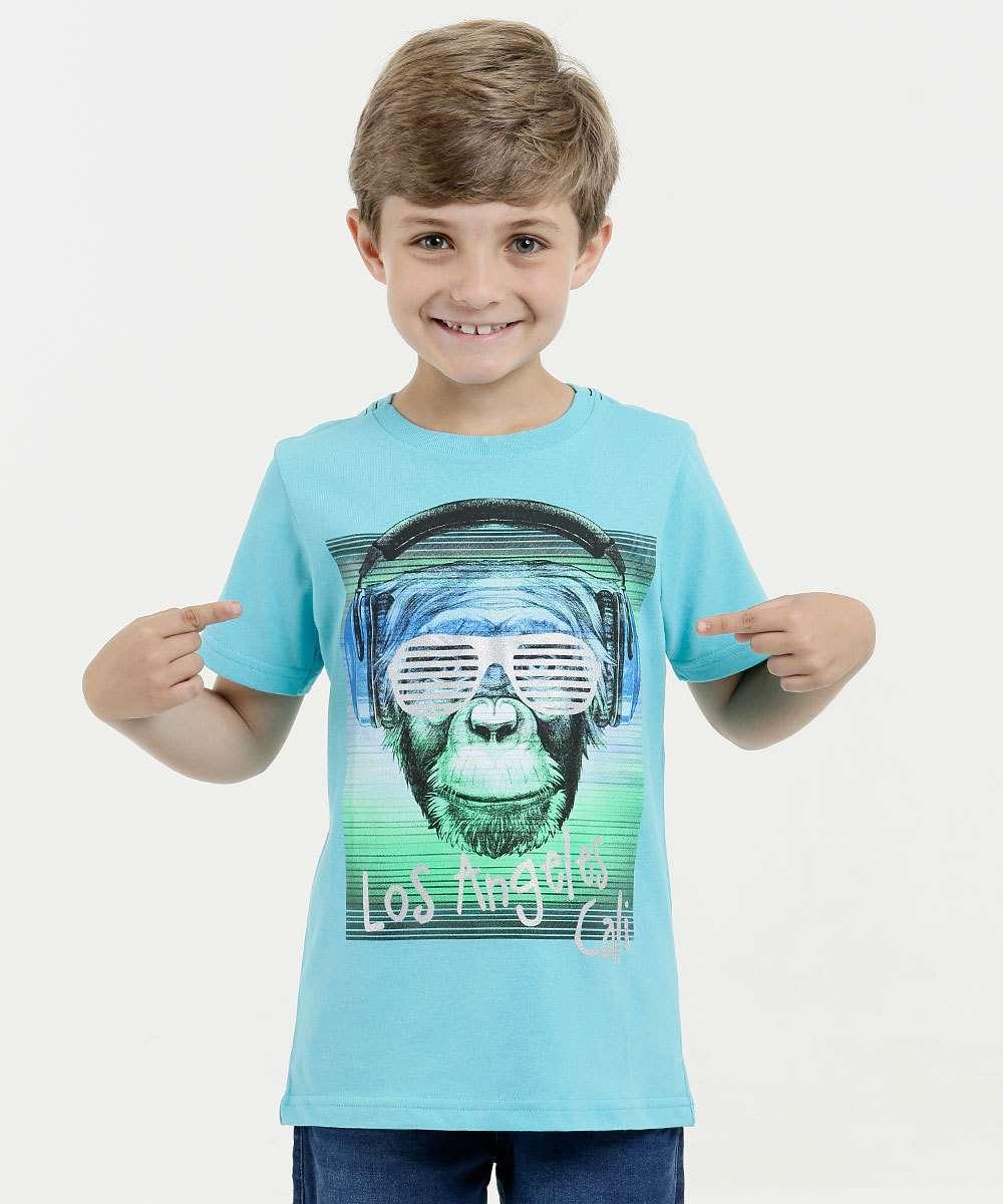 Camiseta Infantil Estampa Frontal Manga Curta Mr