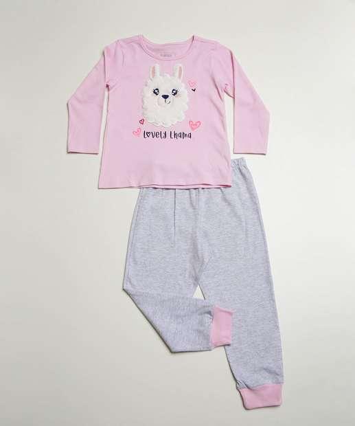 Image_Pijama Infantil Manga Longa Lhama Marisa Tam 1 ao 4