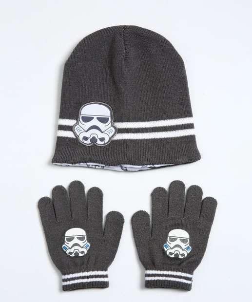 Image_Kit Gorro e Luva Infantil Star Wars Disney