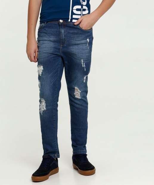 Image_Calça Juvenil Jeans Puídos MR