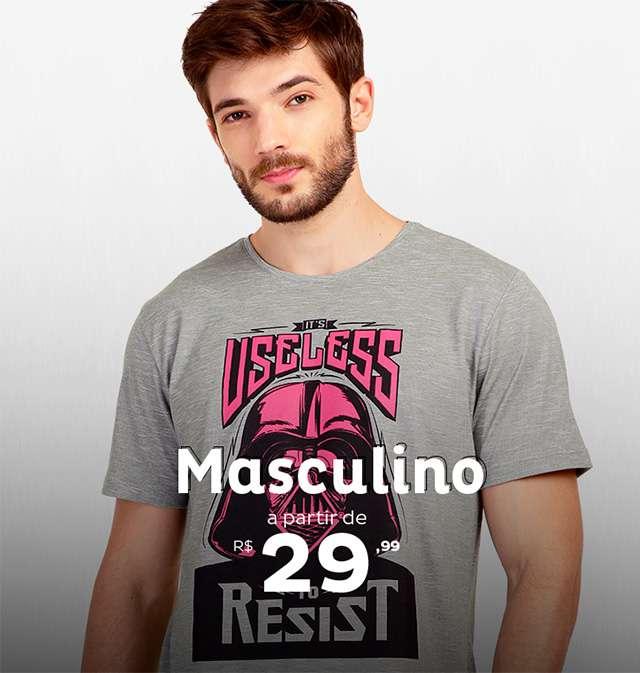 Masculino à partir de R$29,99