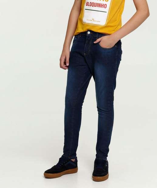 Image_Calça Juvenil Jeans Skinny Bolsos MR