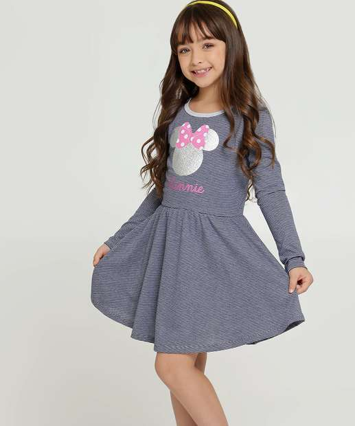 Image_Vestido Infantil Listrado Minnie Disney