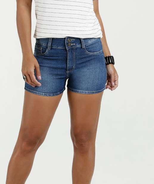 Image_Short Feminino Jeans Cintura Média Marisa