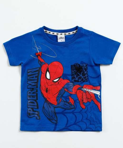 Image_ Camiseta Infantil Estampa Homem Aranha Marvel