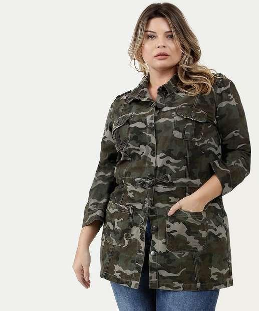 Image_Jaqueta Feminina Sarja Parka Camuflada Plus Size