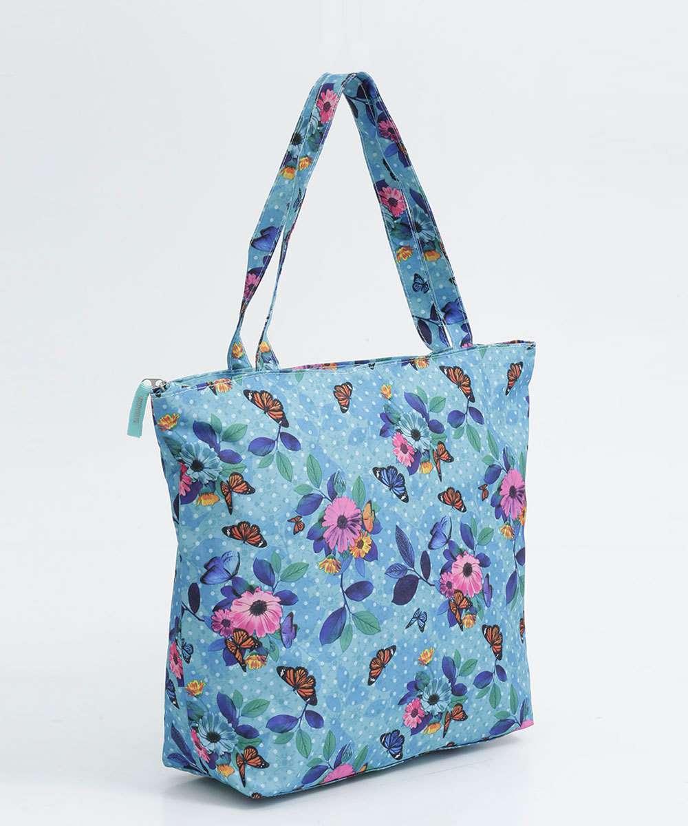 Bolsa Feminina de Ombro Estampa Floral Clio