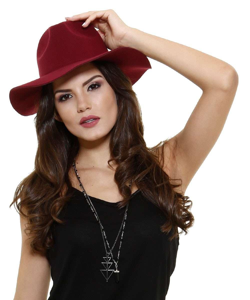 Chapéu Feminino de Camurça Marisa  1c2fe89f04a