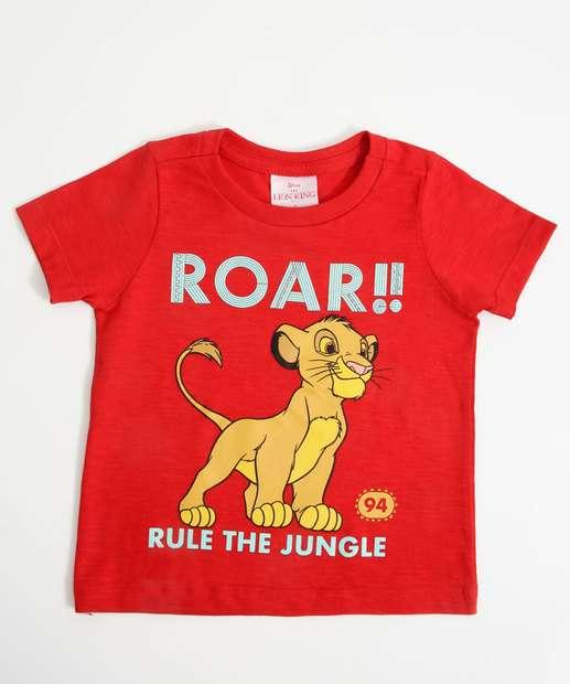 Image_Camiseta Infantil O Rei Leão Manga Curta Disney