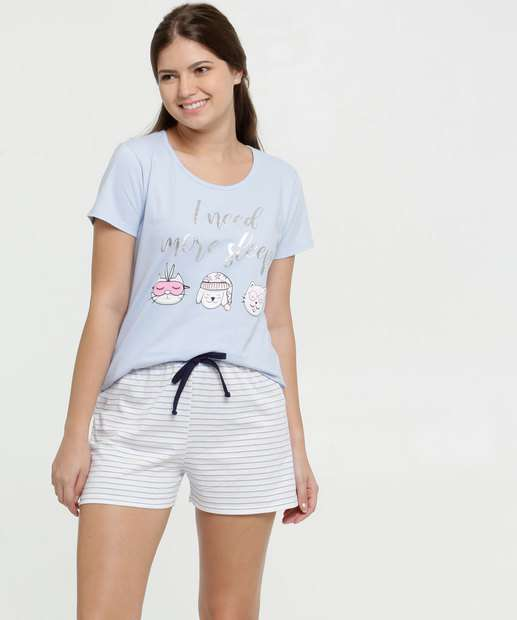 Image_Pijama Feminino Listrado Estampa Frontal Marisa