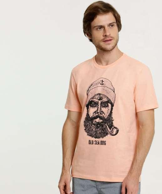 Image_Camiseta Masculina Estampa Marinheiro Manga Curta MR