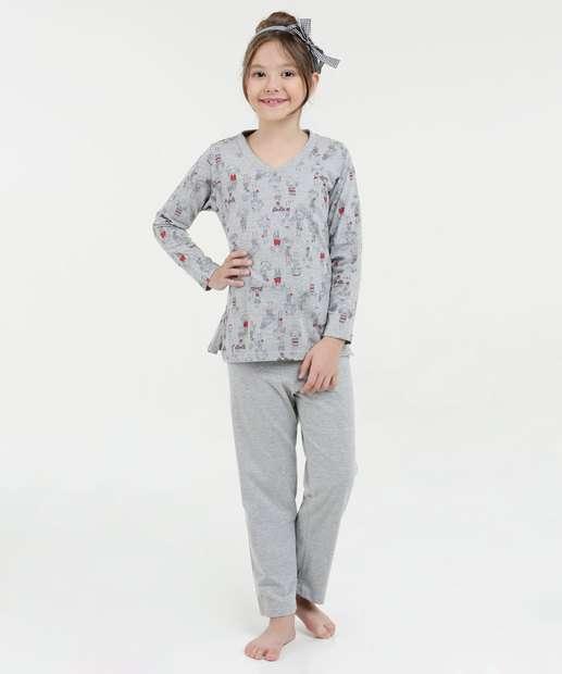Image_Pijama Infantil Estampa Boneca Manga Longa Lupo