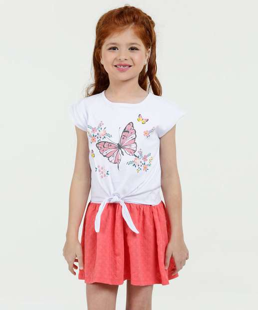Image_Vestido Infantil Estampa Borboleta Manga Curta Marisa
