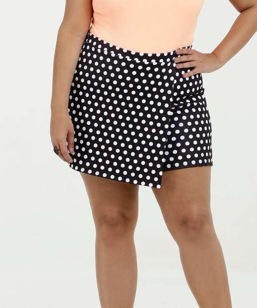 Image_Short Saia Feminino Estampa Bolinhas Plus Size