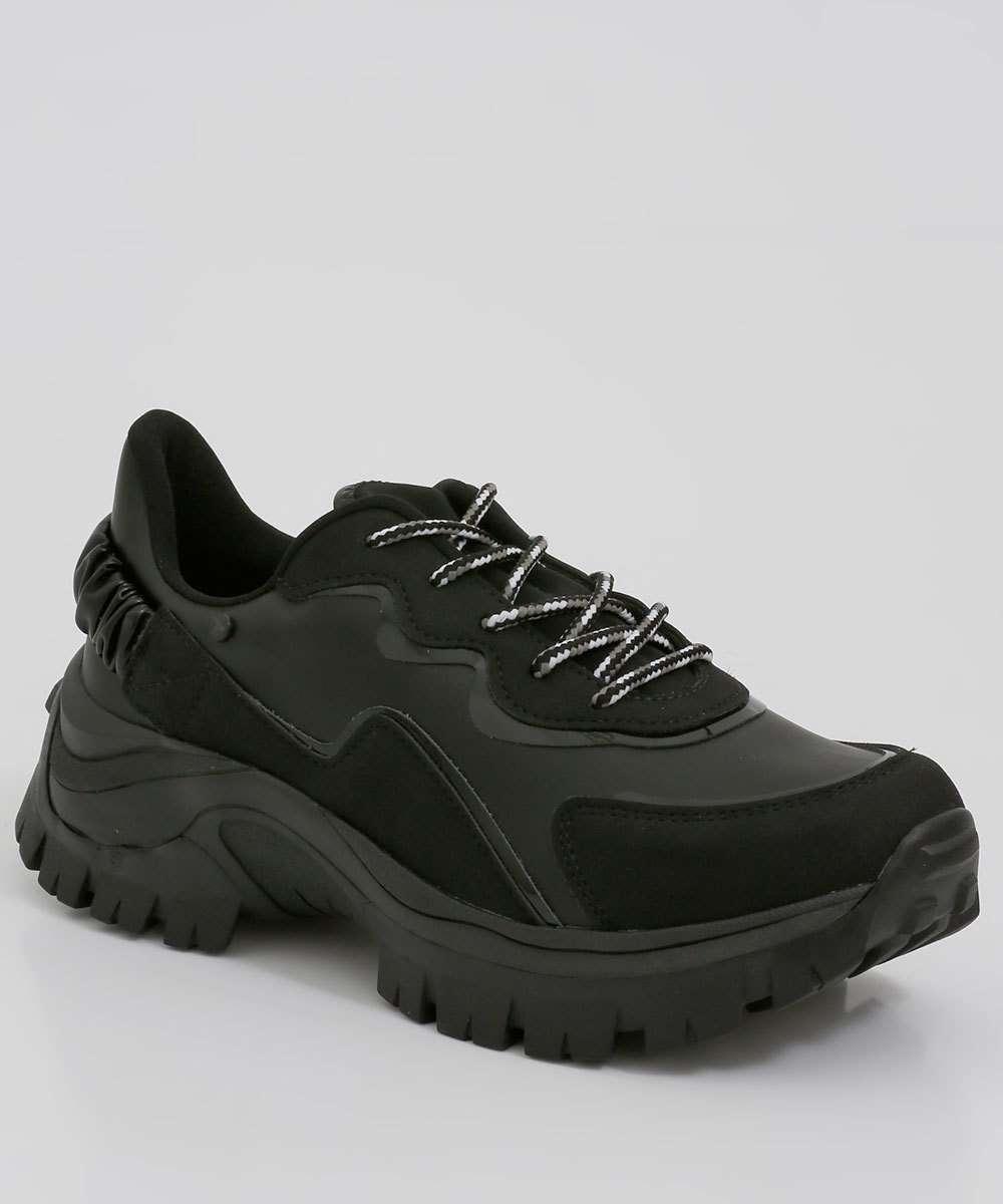 Tênis Feminino Chunky Sneaker Listras Tanara