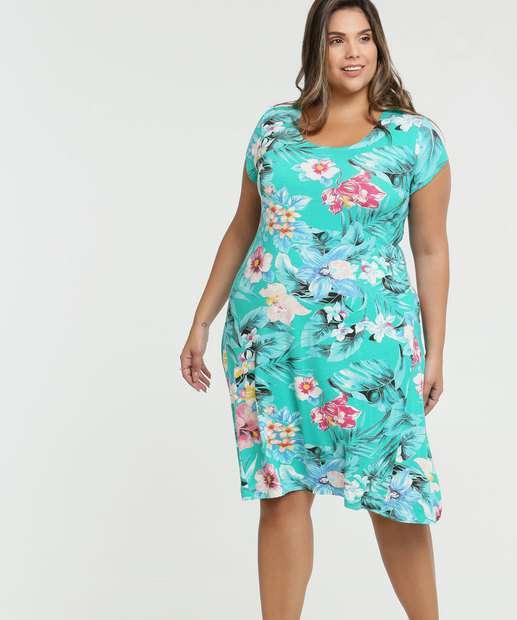 Image_Vestido Feminino Estampa Tropical Plus Size