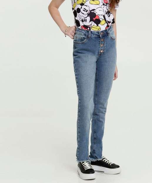 Image_Calça Juvenil Jeans Skinny Barra Desfiada Marisa