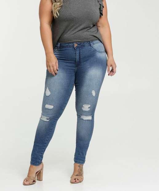 Image_Calça Jeans Destroyed Skinny Feminina Plus Size Biotipo