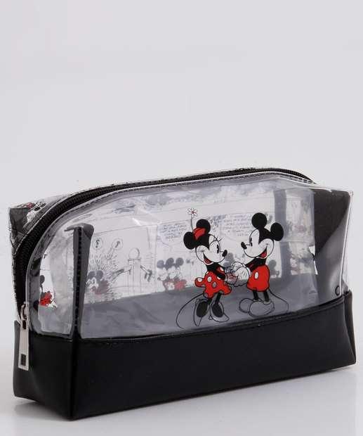 Image_Necessaire Feminina Vinil Estampa Mickey Minnie Disney