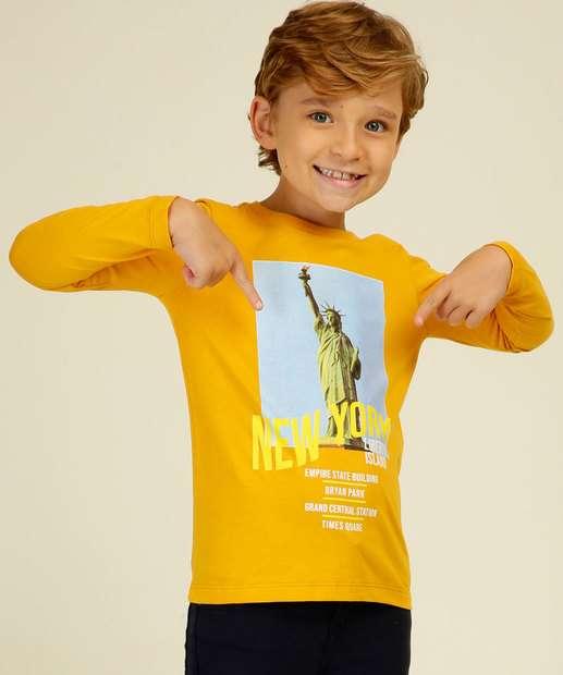 Image_Camiseta Infantil Estampada Manga Longa MR Tam 4 a 10