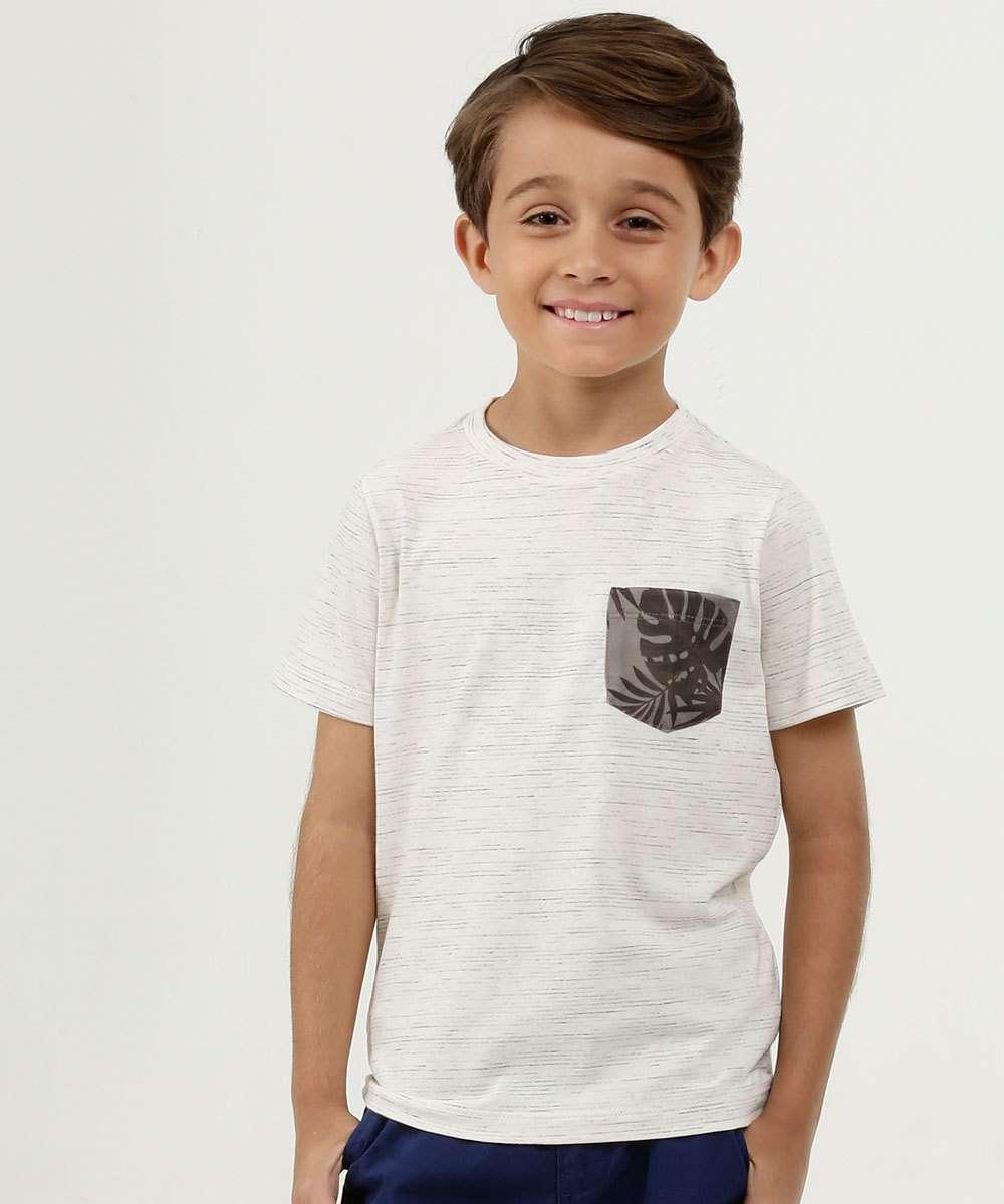 Camiseta Infantil Bolso Manga Curta MR