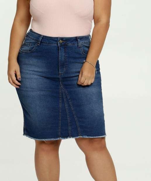 Image_Saia Feminina Jeans Barra Desfiada Plus Size Razon