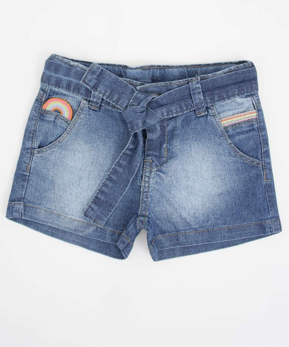 Short Infantil Jeans Clochard
