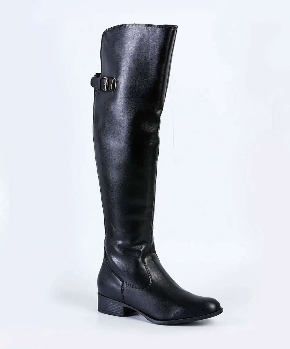 Bota Feminina Over The Knee Via Uno