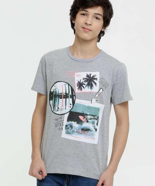 Image_Camiseta Juvenil Estampa Surf Manga Curta